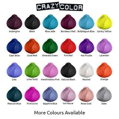 Crazy Color Hair Dye shades