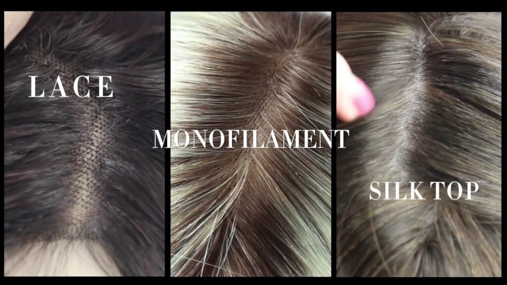 Difference between lace monofilament and silk top wigs and hairpieces