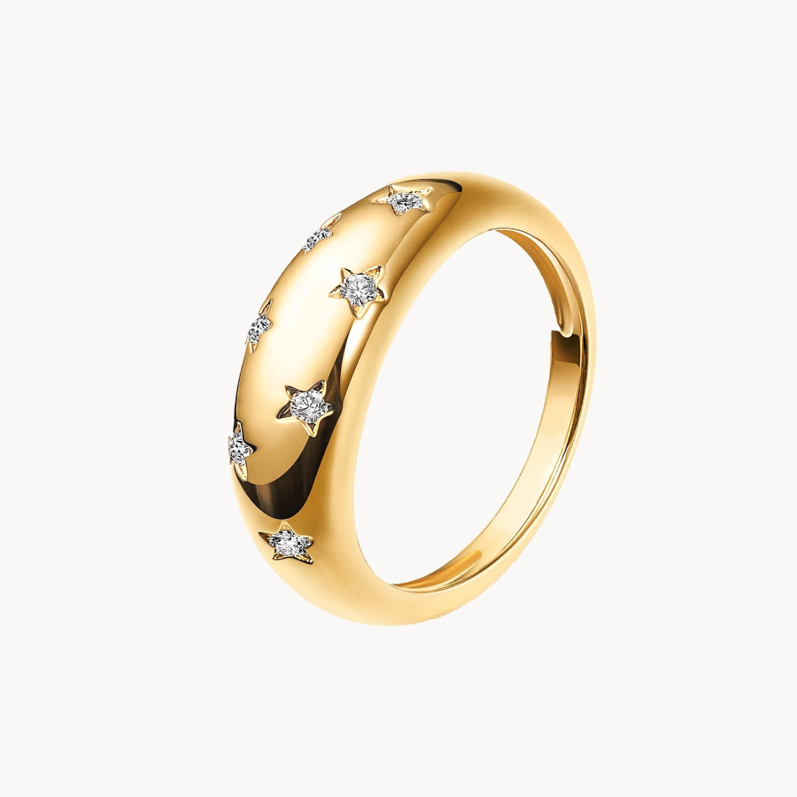 Olivia Brown Star Ring with white background
