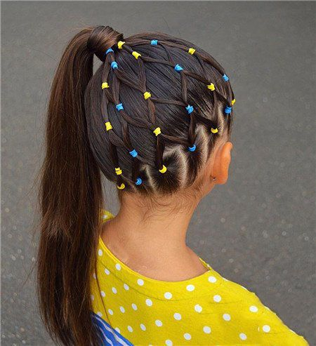 Cute Braided Hairstyle For School