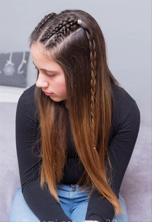 Cute and Easy Hairstyle for Primary School and Middle School Girls