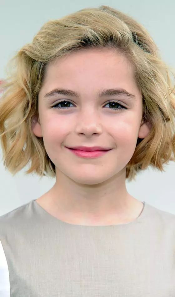 Pretty 11 Year-olds Girl With Bob Hairstyle